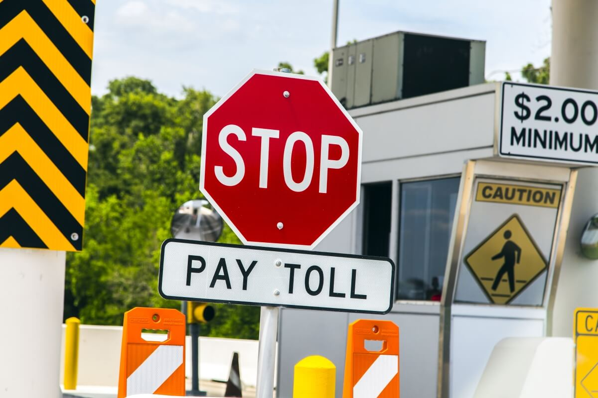 Stop Pay Toll sign